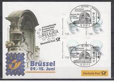 Deutschland Mi. 2185 Messebrief BELGICA 2001 Brüssel Manneken Pis Glas Wasser
