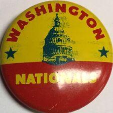 1965 Vintage Washington Nationals Senators MLB Baseball 3/4 Inch Pin Pinback