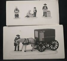 Dept, Department 56 New England Village Amish Family Set/3 and Buggy MiB
