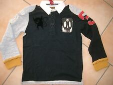 (109) RARE -The Kid Boys 2 in 1 Optik Polo Shirt + Aufnähern & Logo Druck gr.176