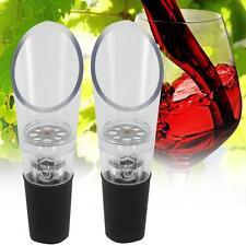 2x Portable Aerating Pourer Decanter Red White Wine Spout Wine Bottle Aerator GA