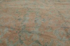 """9'3"""" x 12' Hand Knotted Wool & Silk Turkish Oriental Area Rug Teal Transitional"""