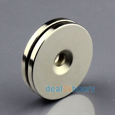 2pcs N50 Small Round Magnets 30mm x 3mm Ring Hole 5mm Disc Rare Earth Neodymium