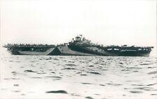 Postcard Sized Photo American Essex Class Aircraft Carrier USS Yorktown