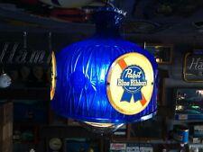 VINTAGE PABST BLUE RIBBON PBR BEER HANGING CEILING LAMP,