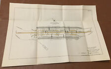 1912 Panama Canal Sketch Diagram Concrete Handling Plant Miraflores Rock Storage