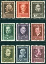 Österreich 1937 Michel Nr. 649-657 Wohlfahrt Österreichische Ärzte postfrisch