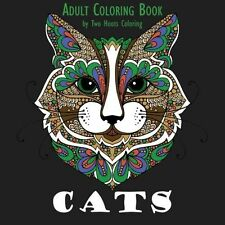 Animal Coloring Book Adult Designs Cats Creative Art Relaxing Fun Stress Relief