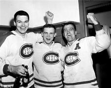 Ab McDonald, Ralph Backstrom ,Bernie Geoffrion Montreal Canadiens 8x10 Photo