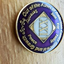 Narcotics Anonymous Purple 21 year Na Medallion Token Chip Coin Sobriety Clean