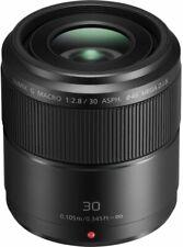 Panasonic Lumix G Macro 30mm F/2.8 Mega O.I.S. Lens - Black (HHS030E)