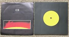 """U2 Fire Very Rare 1-Sided 1-Sided Yellow Label Promo 7"""" PS Rock Punk New Wave"""
