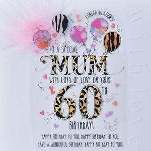 Wendy Jones-Blackett Mum 60th Birthday Card – Handmade Milestone Cards