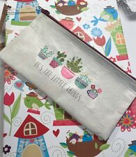 "Natural Life recycled plastic zippered bag  8'x 4""  IT'S THE LITTLE THINGS"
