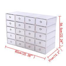 20 Schuhkarton Aufbewahrungsbox Stapelbox Schuhbox Schuhaufbewahrung Allzweckbox