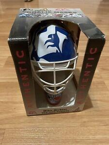 New York Rangers MIKE RICHTER Mini NHL Hockey Goalie Mask Pinnacle EA Sports