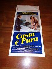 LOCANDINA,Casta e pura 1981, Laura Antonelli. Samperi,Massimo Ranieri sexy