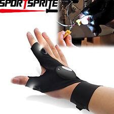 Hiking Lights Multipurpose Strap LED Fingerless Glove Cover Survival Rescue Tool