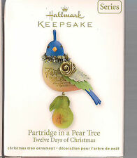 2011  Hallmark  Ornament 12 Days of Christmas Partridge in a Pear Tree Series #1
