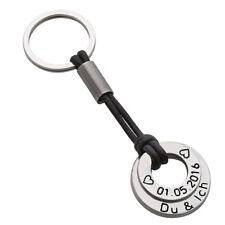 Schlüsselanhänger mit Wunschtext Geschenk Edelstahl