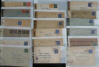 Germany 1946/7 Range of British and Civil Censored Covers to Include Censor Hand