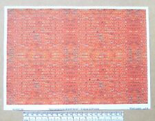 "G gauge (1:24 scale) "" Red-orange brick(English bond) ""  paper - A4 sheet"