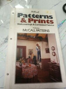 VINTAGE WALLPAPER SAMPLE BOOK FEATURING MCCALL PATTERNS 1982