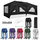 3x3M 3x6M Heavy Duty Gazebo Marquee Waterproof Wedding Party Tent Pop Up w/Sides