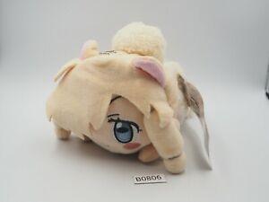 "Kemono Friends B0806  Alpaca Suri SEGA Nesoberi Plush 6"" TAG Toy Doll Japan"