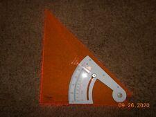 Charvoz 31-9410 Orange Adjustable Triangle Trig-Scale