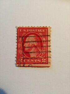 USA Postage Stamp Errore.  Red Linea 2c timbro nero 11 dentellato,n on in basso