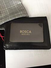 BOSCA VTG OLD LEATHER BLack  FRONT POCKET WALLET W/ MONEY CLIP 318