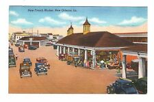 New Orleans La Postcard New French Market Buildings completed in 1938 Cars Linen