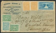 1922 Colombia Registered Cover Bogota-Ouidah Africa