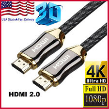 4K HDMI Cable 15FT Ultra High Speed HDMI 2.0 Braided Cord Ethernet HDTV 2160P 3D