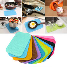Non-Slip Silicone Mats Heat Resistant Pot Holders Square Pads Solid Home Decor