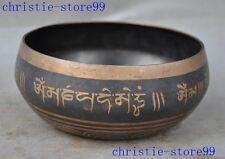 "3"" Old Tibet bronze Buddhism Tibetan Text 5 five God Shakyamuni pot Bowl"