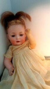 Circa 1900 Bahr & Proschild  Porclain Doll marked 626 4 Germany Crossed Swords