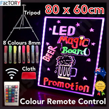Light Remote 2020 80 X 60 Cm LED Writing Board Neon Sign Signage Fluorescent