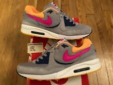 2013 NIKE AIR MAX LIGHT LE B SIZE? 1 SILVER GREY PINK ORANGE ATMOS 396880 068 9