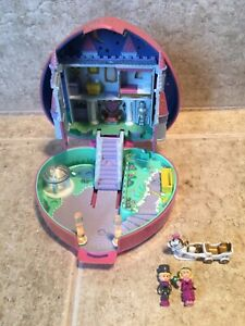POLLY POCKET 1992 LIGHT UP Starlight Castle 2 Figures Horse & Carraige