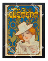 Historic Cycles Clement, France 1900s Advertising Postcard