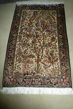 Ghoum tapis persan en pure soie naturelle de 156 x 76 cm