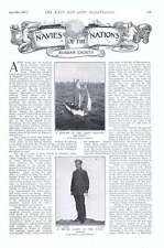 1901 RUSSIAN Cadet Escadron d'Entraînement pinnace Garde-MARINE Astronomical travail