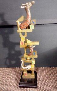 "Glen Tarnowski ""Building Blocks"" giraffe sculpture Hand Signed Bronze Make Offer"