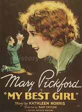 "Mary Pickford Vintage Postcard from the  Movie ""My Best Girl """