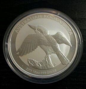 2011 Kookaburra 10 oz silver bullion coin Australian Perth Mint