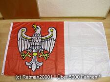Fahnen Flagge Großpolen Woiwodschaft Polen Digitaldruck - 90 x 150 cm