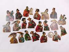 Lot Of 21 Embossed Victorian Die-Cuts Far-East Asia Japan/China Men Ladies CA52