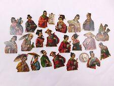 Lot Of 21 Embossed Victorian Die-Cuts Far-East Asia Japan/China Men Ladies CA52